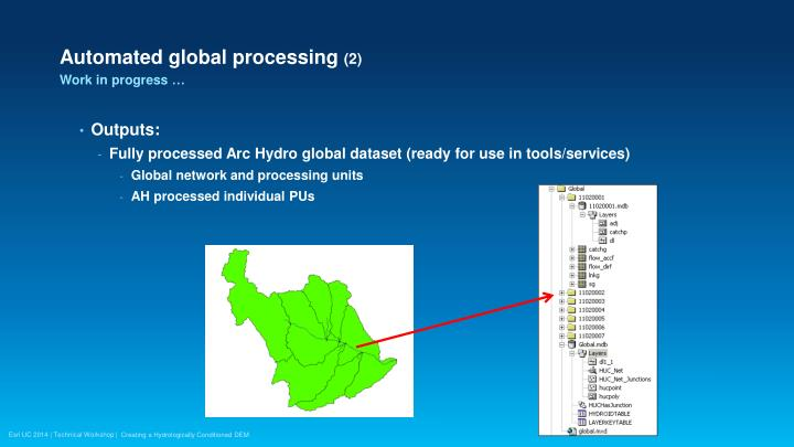 Automated global processing