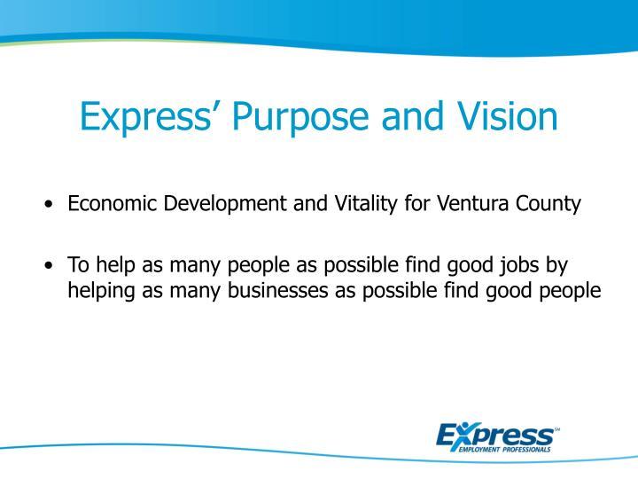 Express' Purpose and Vision