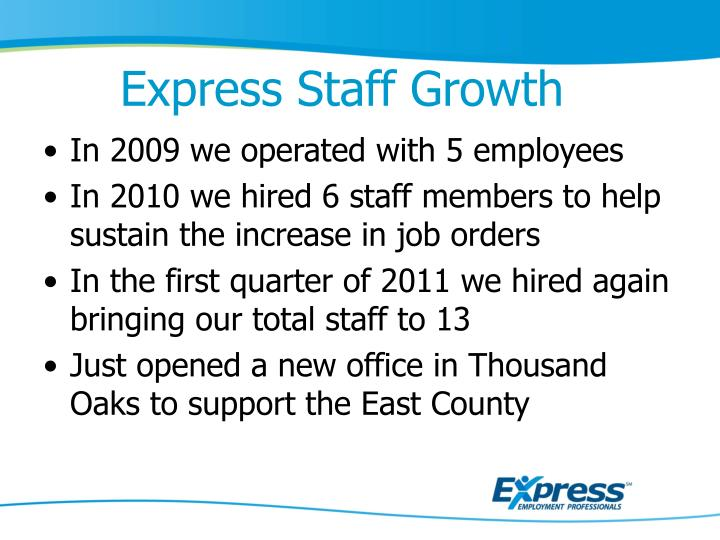 Express Staff Growth