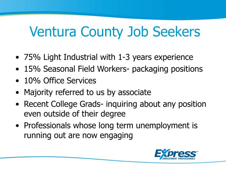 Ventura County Job Seekers