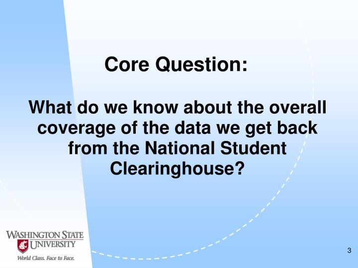 Core Question: