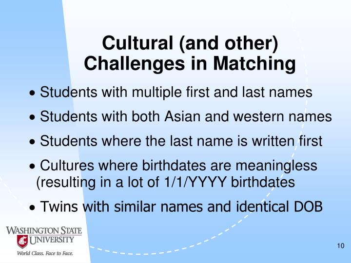 Cultural (and other)