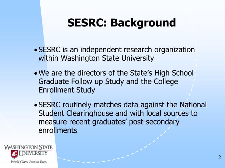 SESRC: Background