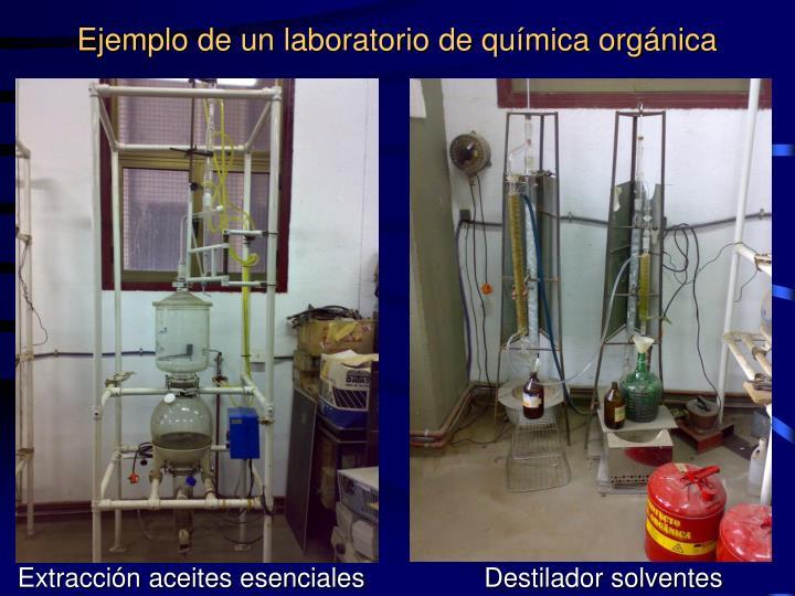 Ejemplo de un laboratorio de química orgánica