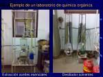 ejemplo de un laboratorio de qu mica org nica