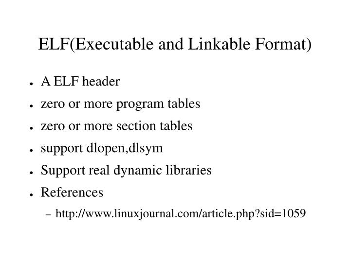 A ELF header