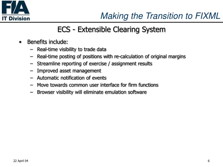 ECS - Extensible Clearing System
