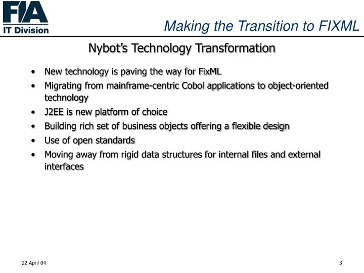 Nybot's Technology Transformation