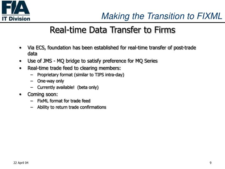 Real-time Data Transfer to Firms