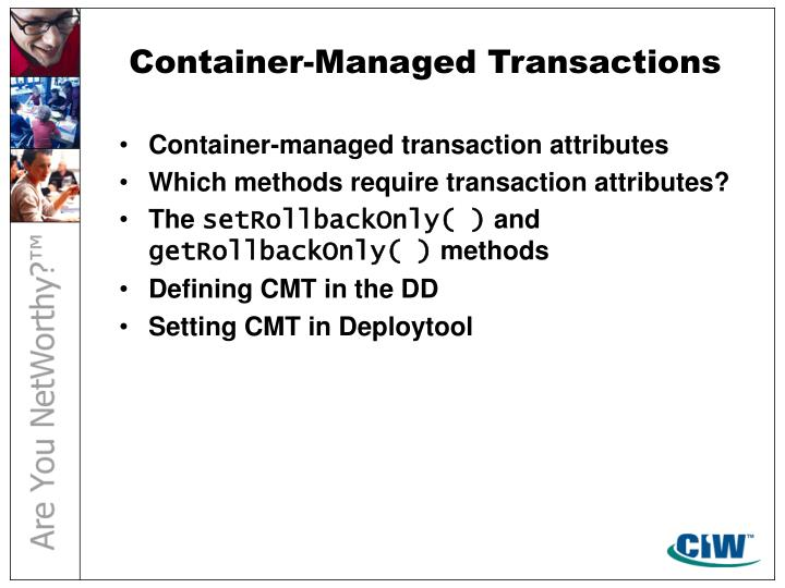Container-Managed Transactions