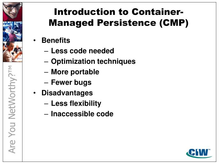 Introduction to Container-Managed Persistence (CMP)