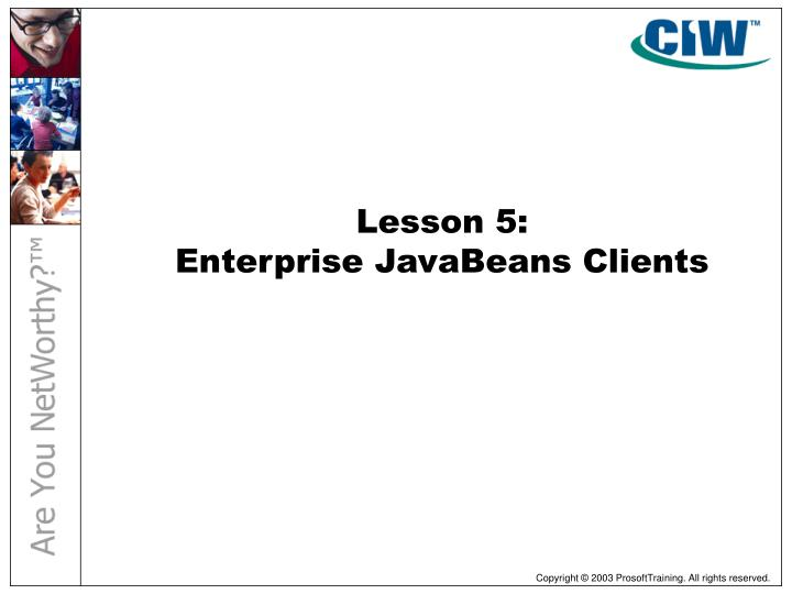 Lesson 5: