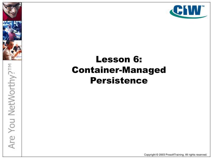 Lesson 6:
