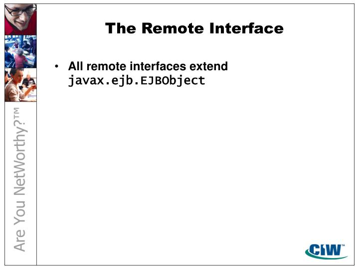 The Remote Interface