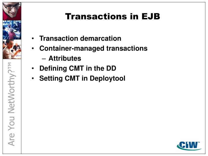 Transactions in EJB