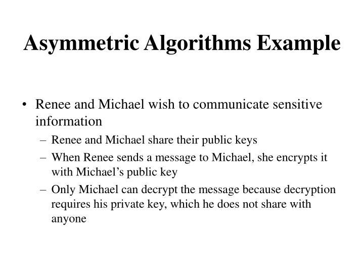 Asymmetric Algorithms Example