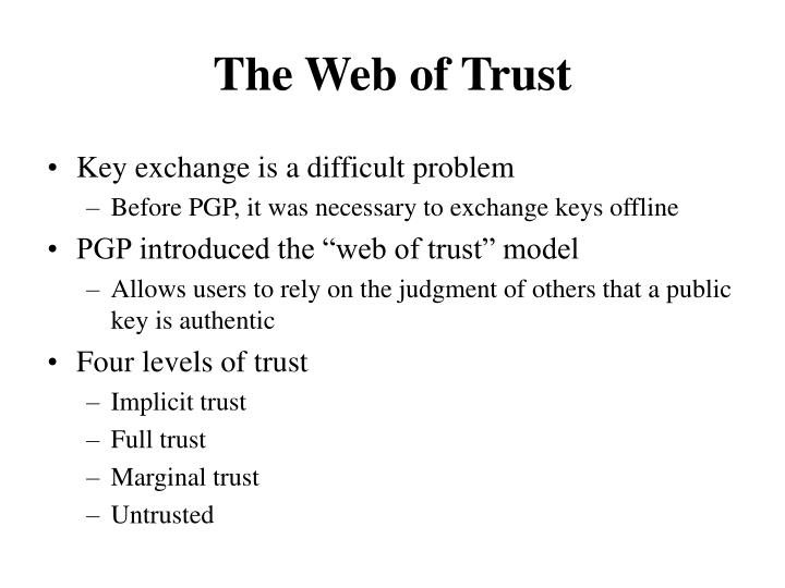 The Web of Trust