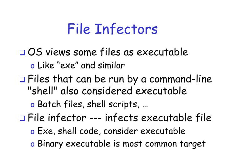 File Infectors