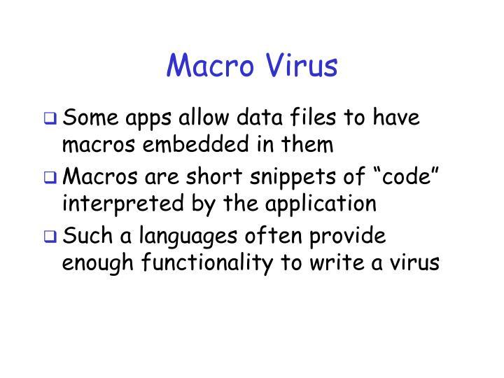 Macro Virus