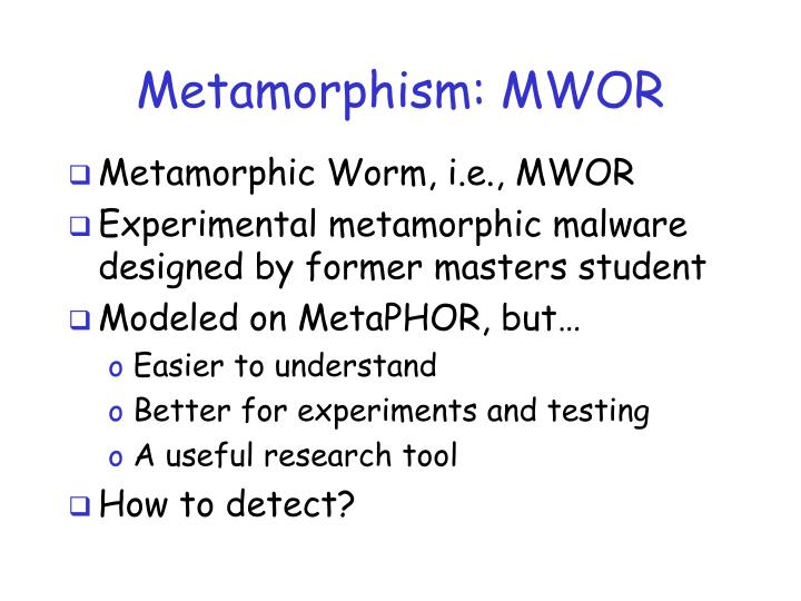 Metamorphism: