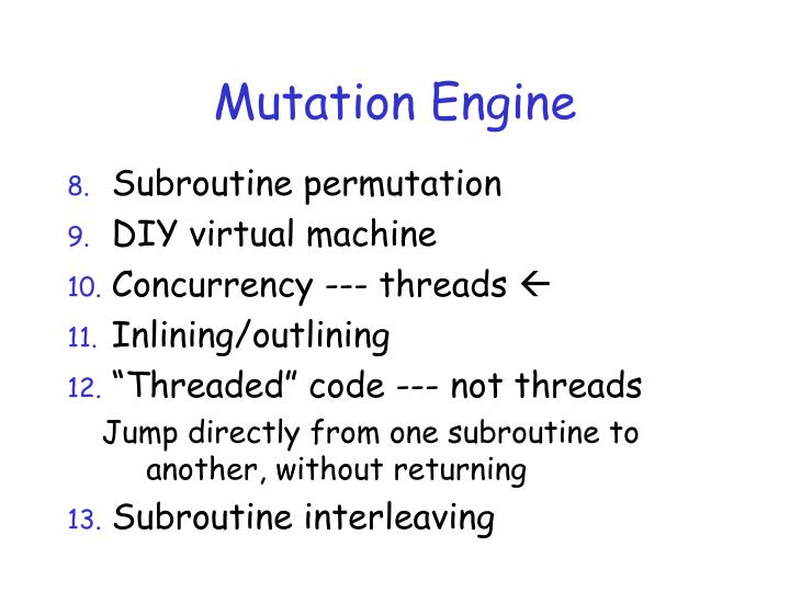 Mutation Engine
