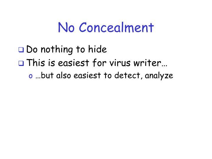 No Concealment