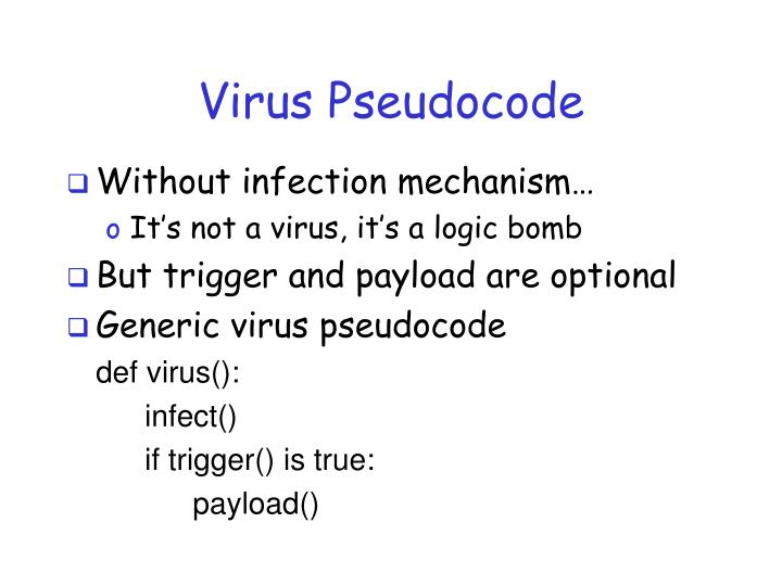Virus Pseudocode