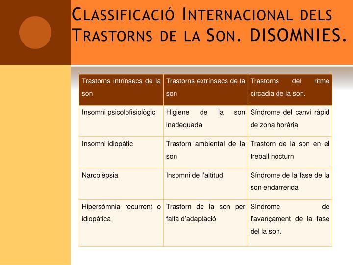 Classificació Internacional dels Trastorns de la Son