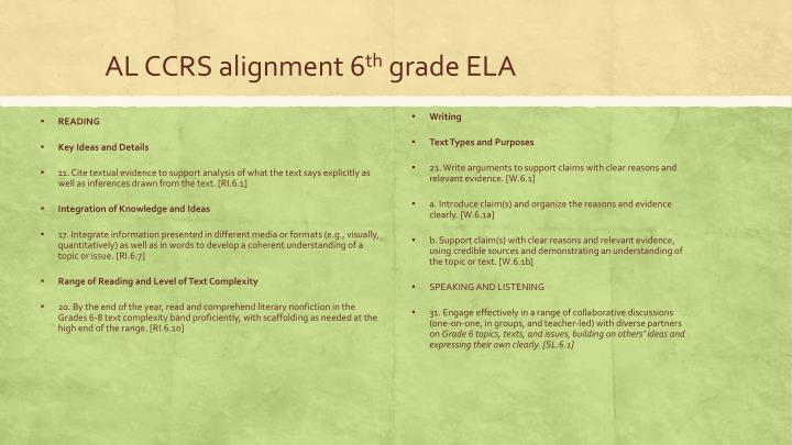 AL CCRS alignment 6