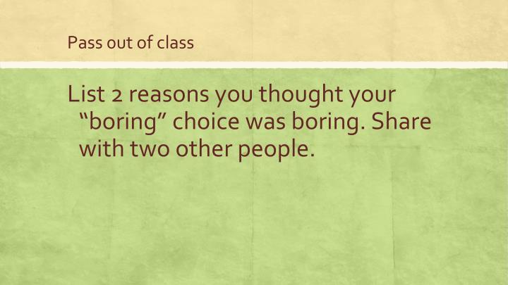 Pass 0ut of class