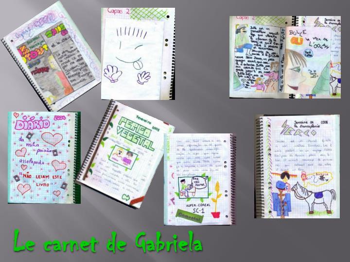 Le carnet de Gabriela