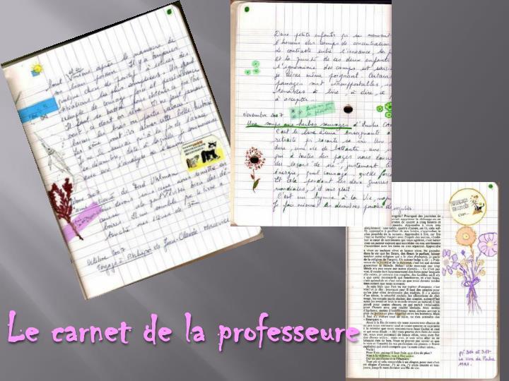 Le carnet de la professeure