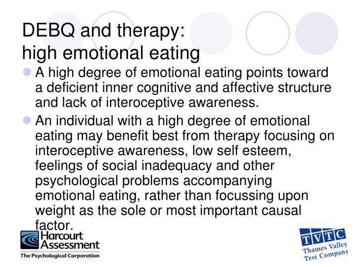DEBQ and therapy: