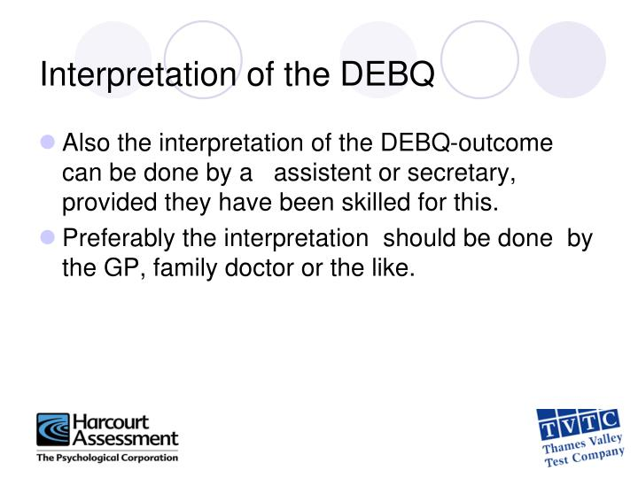 Interpretation of the DEBQ