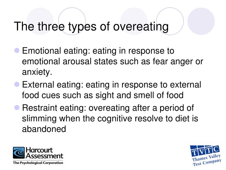 The three types of overeating