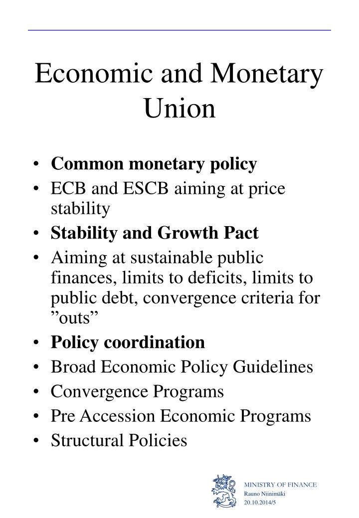 Economic and Monetary Union