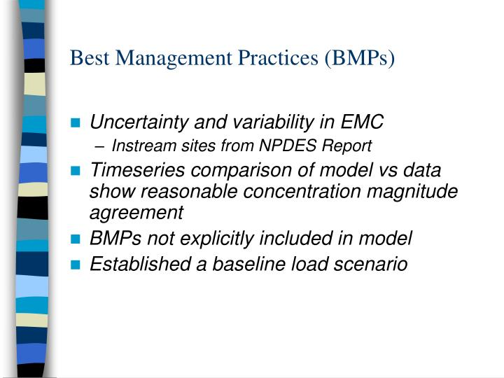 Best Management Practices (BMPs)