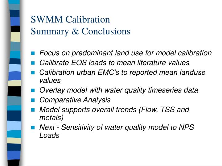 SWMM Calibration