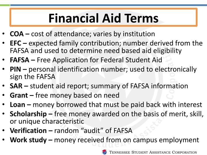 Financial Aid Terms