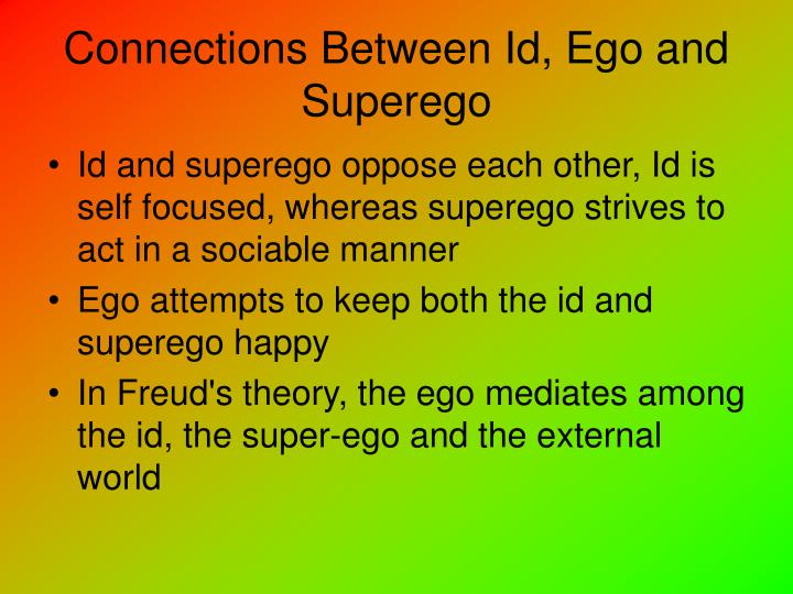 Connections Between Id, Ego and Superego