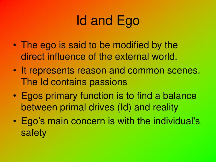 Id and Ego