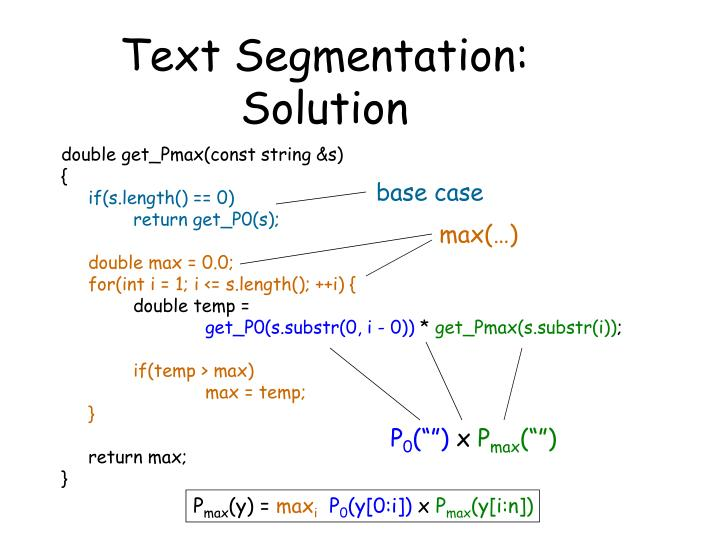 Text Segmentation: