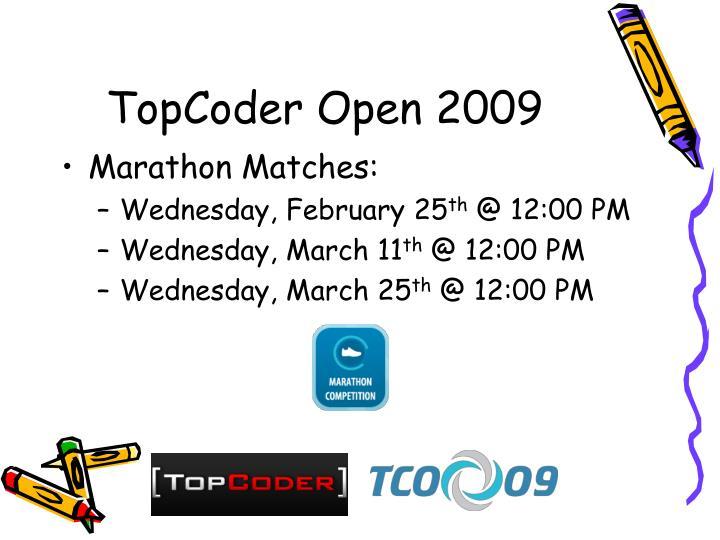 TopCoder Open 2009