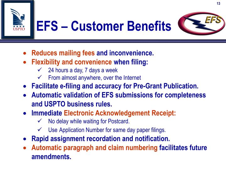 EFS – Customer Benefits