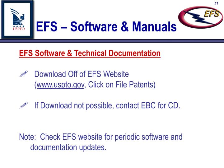 EFS – Software & Manuals