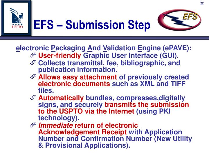 EFS – Submission Step