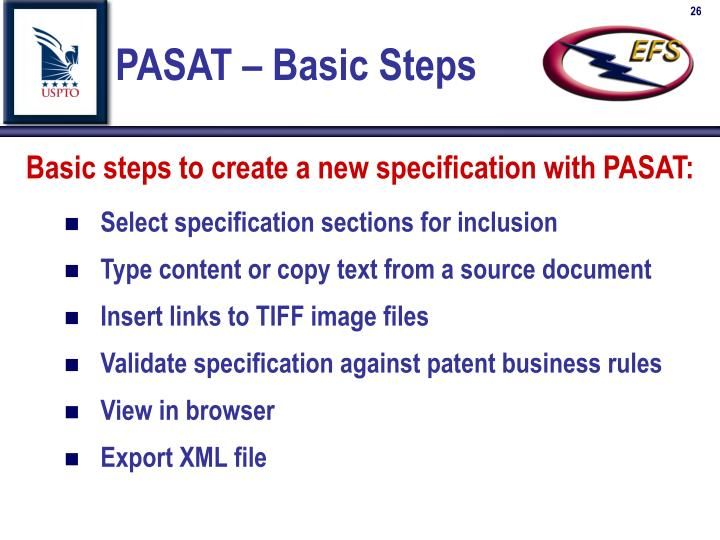PASAT – Basic Steps