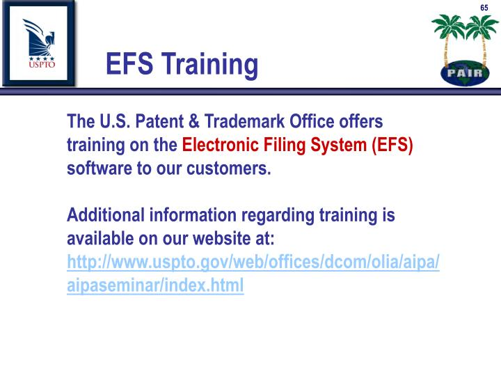 The U.S. Patent & Trademark Office offers training on the