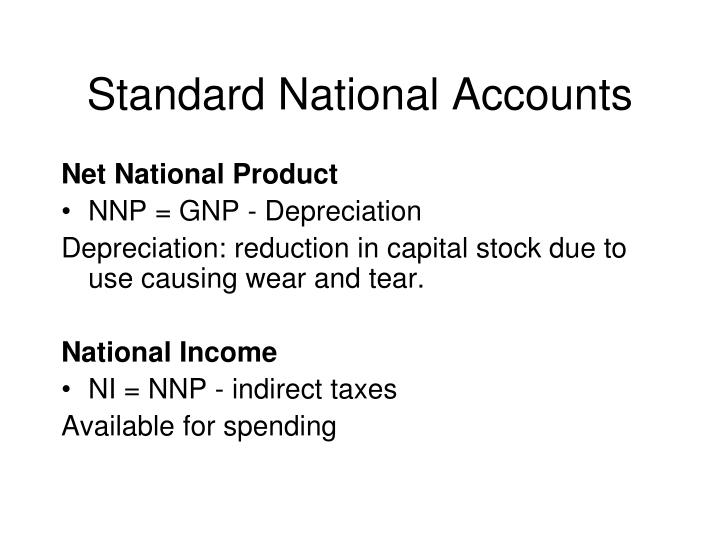 Standard National Accounts