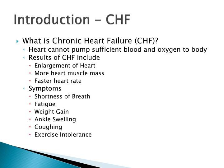 Introduction chf